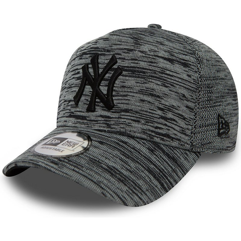 new-era-curved-brim-engineered-fit-a-frame-new-york-yankees-mlb-mottled-grey-snapback-cap
