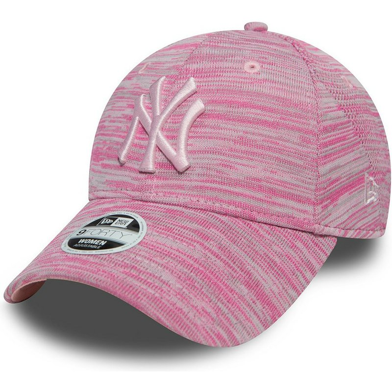 New Era Curved Brim Pink Logo 9FORTY Engineered Fit New York Yankees MLB  Pink Adjustable Cap  Shop Online at Caphunters 982731f0d86