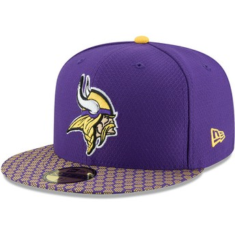 New Era Flat Brim 59FIFTY Sideline Minnesota Vikings NFL Purple Fitted Cap
