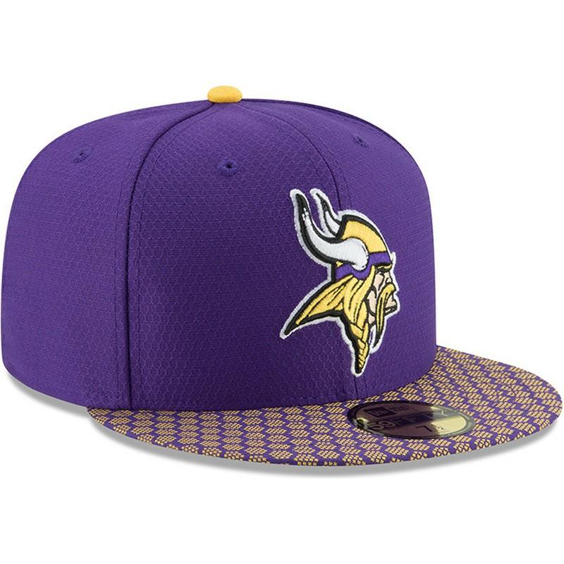 ... purple nfl spotlight 59fifty fitted hat 9ef4f 942f5  usa new era flat  brim 59fifty sideline minnesota vikings ede43 f40a8 b481d6ffd