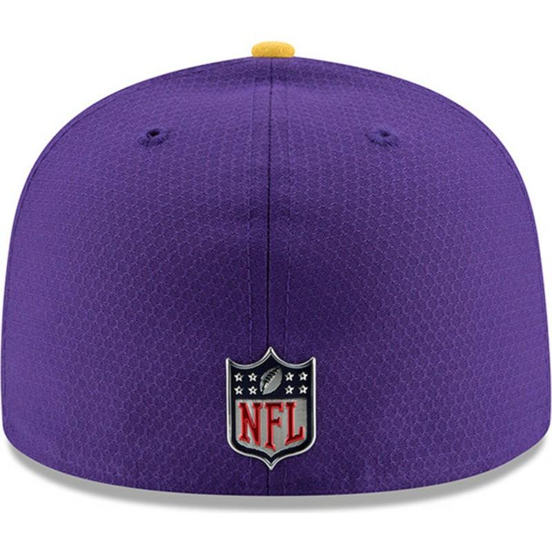 c93ee533a9e New Era Flat Brim 59FIFTY Sideline Minnesota Vikings NFL Purple ...