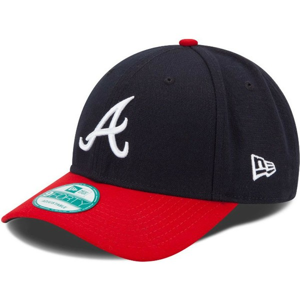 new-era-curved-brim-9forty-the-league-atlanta-braves-mlb-navy-blue-and-red-adjustable-cap