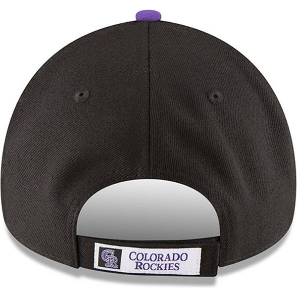 new-era-curved-brim-9forty-the-league-colorado-rockies-mlb-black-adjustable-cap