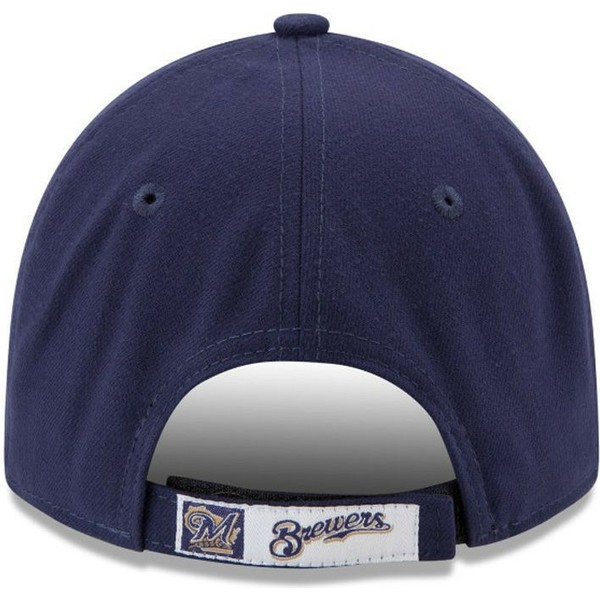 new-era-curved-brim-9forty-the-league-milwaukee-brewers-mlb-navy-blue-adjustable-cap