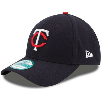New Era Curved Brim 9FORTY The League Minnesota Twins MLB Navy Blue Adjustable Cap