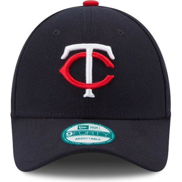 66b0ee22960f79 New Era Curved Brim 9FORTY The League Minnesota Twins MLB Navy Blue ...