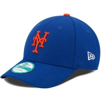 Gorra curva azul ajustable 9FORTY The League de New York Mets MLB de New Era