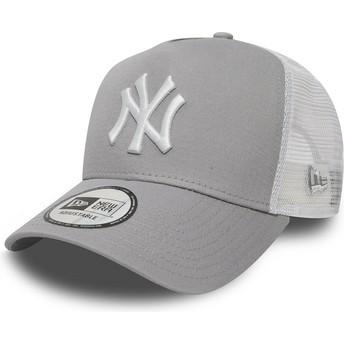 Gorra trucker gris Clean A Frame 2 de New York Yankees MLB de New Era
