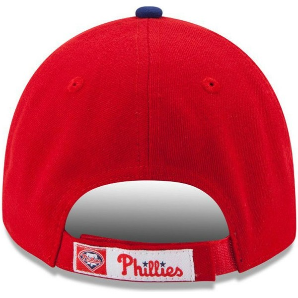new-era-curved-brim-9forty-the-league-philadelphia-phillies-mlb-red-adjustable-cap
