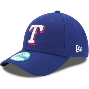 Gorra curva azul ajustable 9FORTY The League de Texas Rangers MLB de New Era