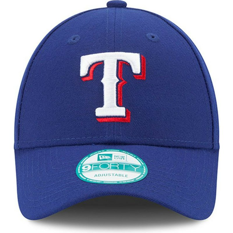 992e7ca0c7a90 New Era Curved Brim 9FORTY The League Texas Rangers MLB Blue ...