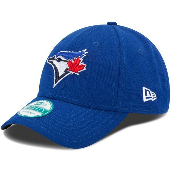 new-era-curved-brim-9forty-the-league-toronto-blue-jays-mlb-blue-adjustable-cap