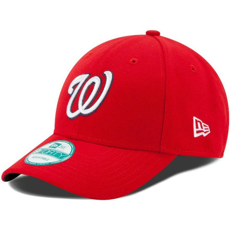 new-era-curved-brim-9forty-the-league-washington-nationals-mlb-red-adjustable-cap