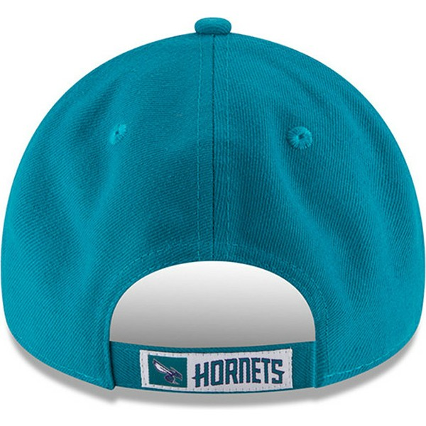 new-era-curved-brim-9forty-the-league-charlotte-hornets-nba-blue-adjustable-cap