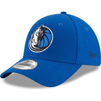 Gorra curva azul ajustable 9FORTY The League de Dallas Mavericks NBA de New Era