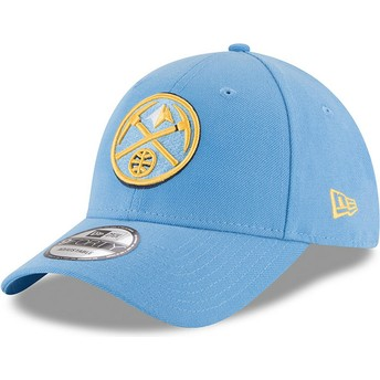 New Era Curved Brim 9FORTY The League Denver Nuggets NBA Light Blue Adjustable Cap