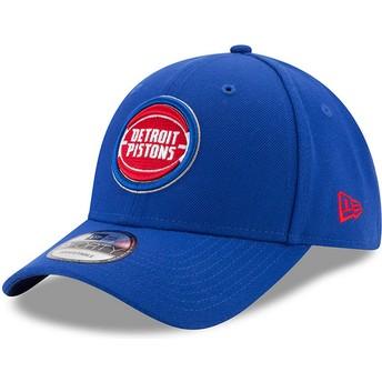 Gorra curva azul ajustable 9FORTY The League de Detroit Pistons NBA de New Era