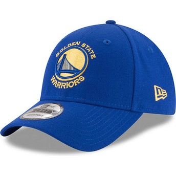 New Era Curved Brim 9FORTY The League Golden State Warriors NBA Blue Adjustable Cap