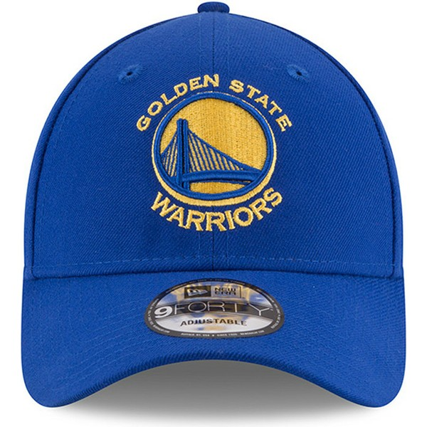 New Era Curved Brim 9FORTY The League Golden State Warriors NBA Blue ... 30c1a4131ec