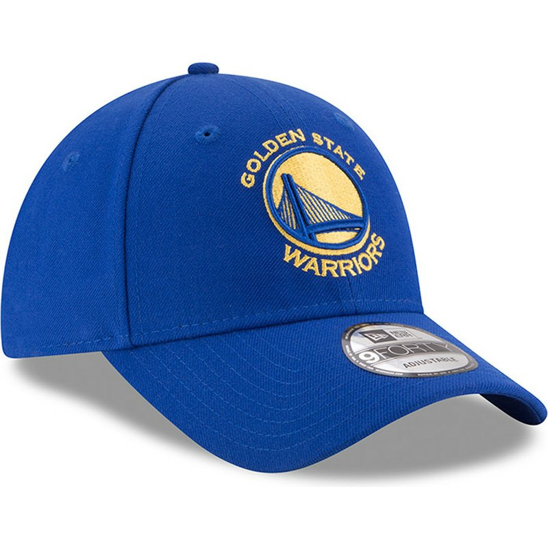 613c516f24a39 New Era Curved Brim 9FORTY The League Golden State Warriors NBA Blue ...