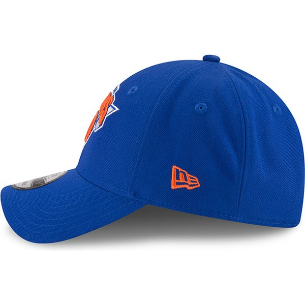 new-era-curved-brim-9forty-the-league-new-york-knicks-nba-blue-adjustable-cap
