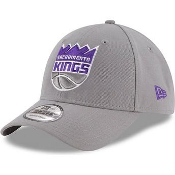 Gorra curva gris ajustable 9FORTY The League de Sacramento Kings NBA de New Era