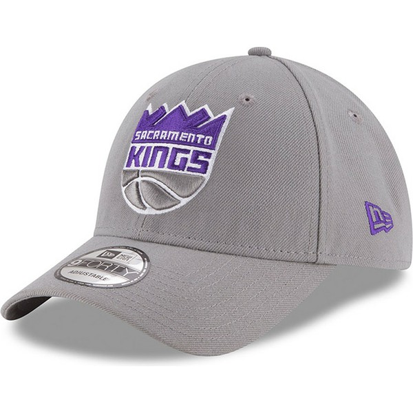 new-era-curved-brim-9forty-the-league-sacramento-kings-nba-grey-adjustable-cap