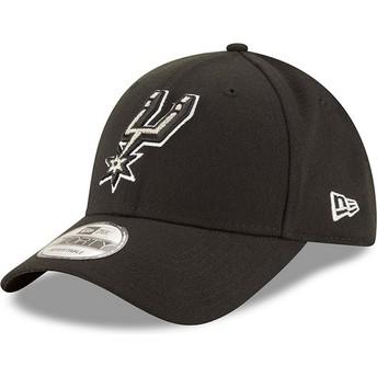 Gorra curva negra ajustable 9FORTY The League de San Antonio Spurs NBA de New Era