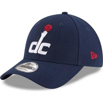 Gorra curva azul marino ajustable 9FORTY The League de Washington Wizards NBA de New Era