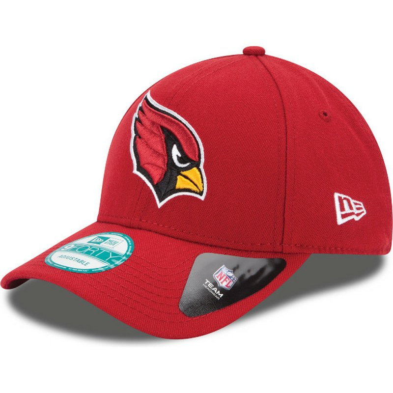 a627c4b7 New Era Curved Brim 9FORTY The League Arizona Cardinals NFL Red Adjustable  Cap