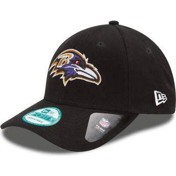 Gorra curva negra ajustable 9FORTY The League de Baltimore Ravens NFL de New Era