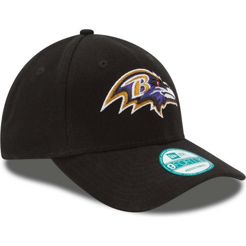 18f17e91c164e New Era Curved Brim 9FORTY The League Baltimore Ravens NFL Black ...