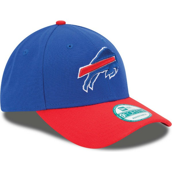 new-era-curved-brim-9forty-the-league-buffalo-bills-nfl-blue-and-red-adjustable-cap