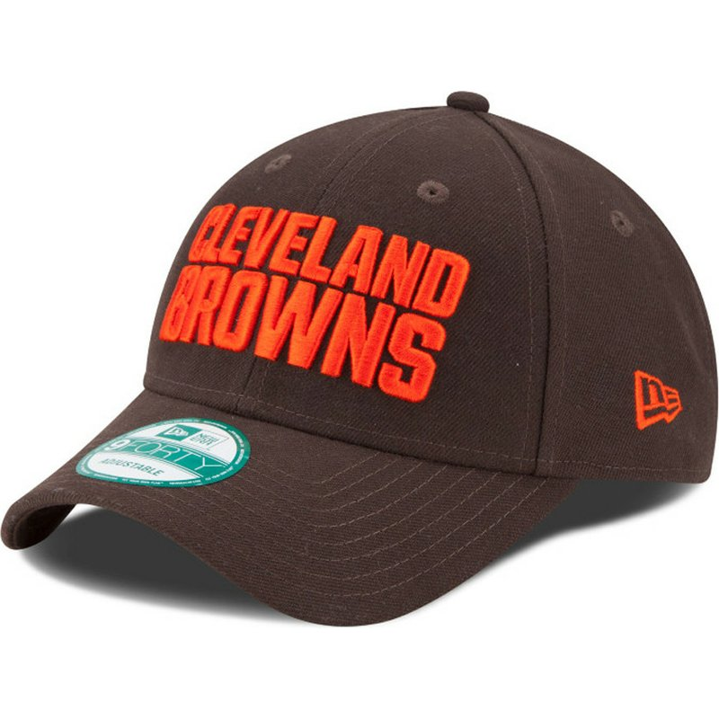 3021f195f New Era Curved Brim 9FORTY The League Cleveland Browns NFL Brown ...