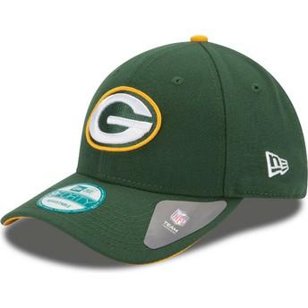 Gorra curva verde ajustable 9FORTY The League de Green Bay Packers NFL de New Era