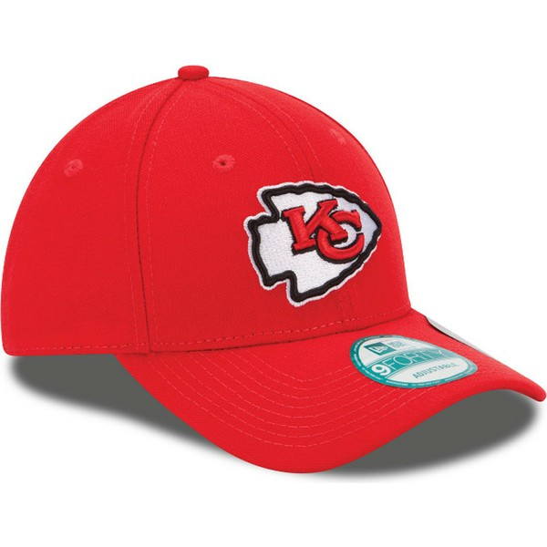 new-era-curved-brim-9forty-the-league-kansas-city-chiefs-nfl-red-adjustable-cap