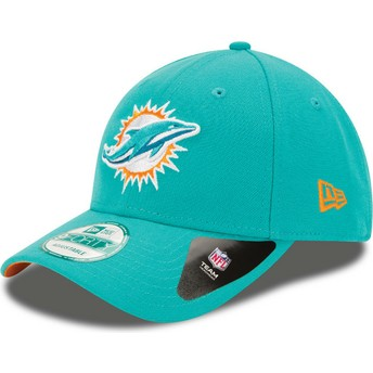 New Era Curved Brim 9FORTY The League Miami Dolphins NFL Blue Adjustable Cap