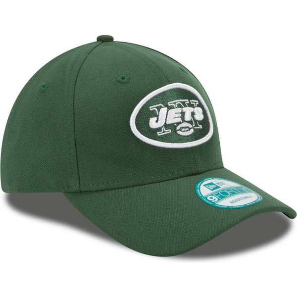 new-era-curved-brim-9forty-the-league-new-york-jets-nfl-green-adjustable-cap
