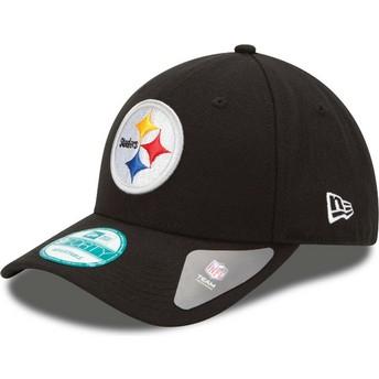 Gorra curva negra ajustable 9FORTY The League de Pittsburgh Steelers NFL de New Era