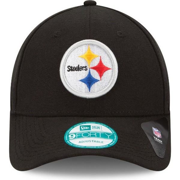new-era-curved-brim-9forty-the-league-pittsburgh-steelers-nfl-black-adjustable-cap