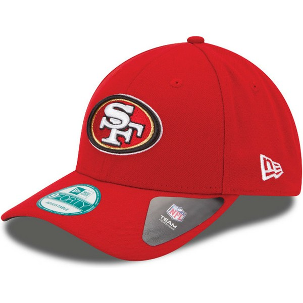 new-era-curved-brim-9forty-the-league-san-francisco-49ers-nfl-red-adjustable-cap