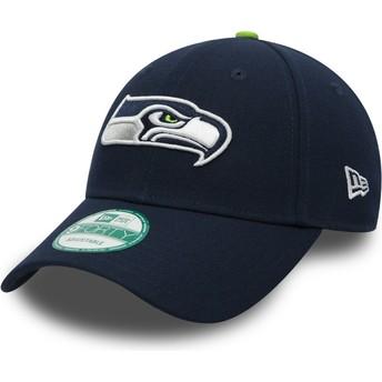 Gorra curva azul marino ajustable 9FORTY The League de Seattle Seahawks NFL de New Era