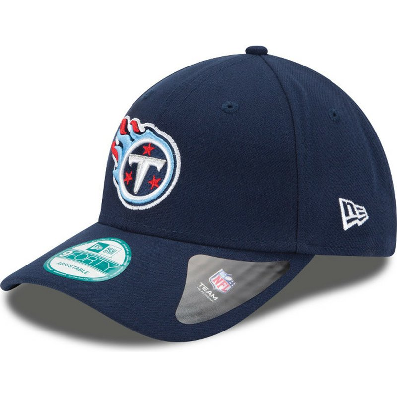 new-era-curved-brim-9forty-the-league-tennessee-titans-nfl-navy-blue-adjustable-cap