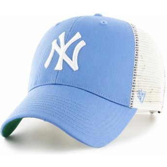 47 Brand Youth New York Yankees MLB MVP Branson Light Blue Trucker Hat