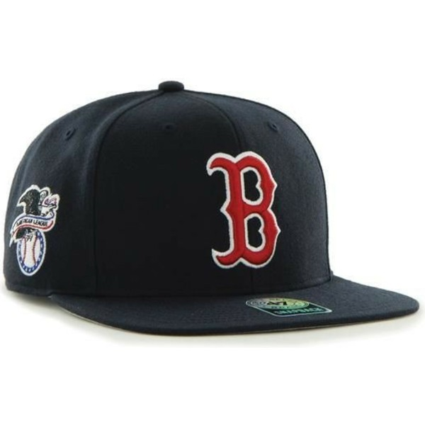 47-brand-flat-brim-boston-red-sox-mlb-captain-sure-shot-navy-blue-snapback-cap