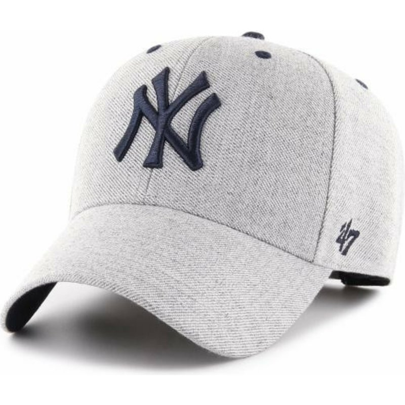 474a3ba3a31ca 47 Brand Curved Brim New York Yankees MLB MVP Storm Cloud Grey ...