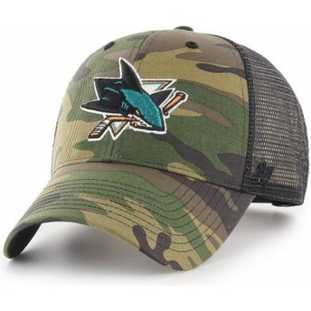 Gorra trucker camuflaje de San Jose Sharks NHL MVP Branson de 47 Brand