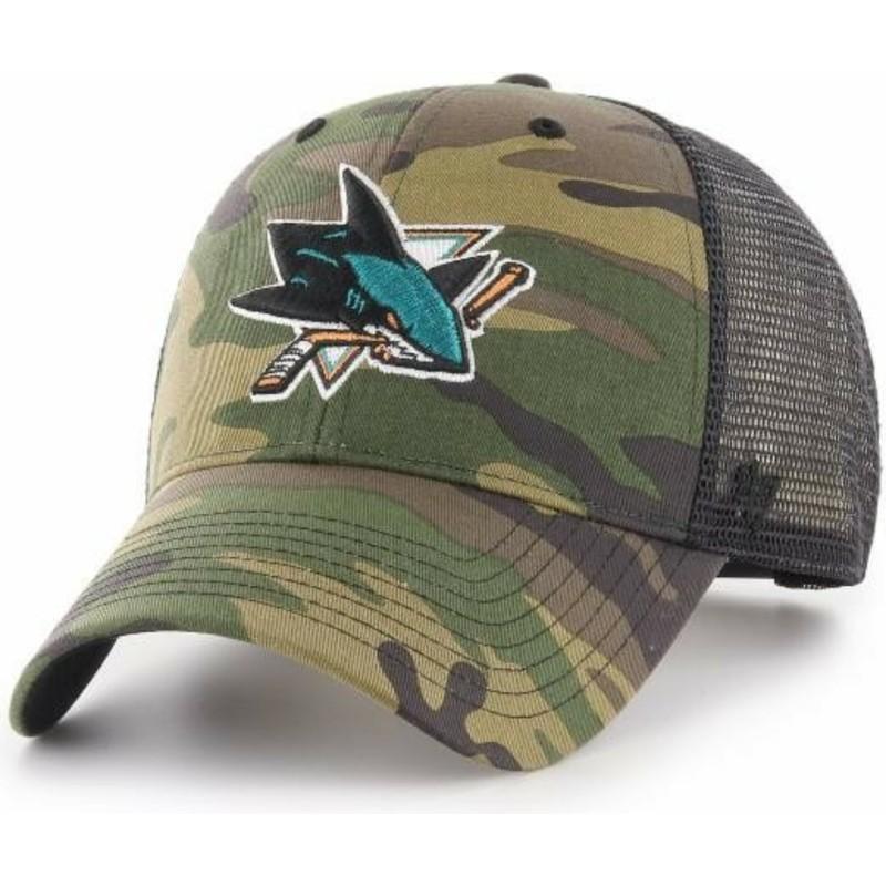 eab56448617 47 Brand San Jose Sharks NHL MVP Branson Camouflage Trucker Hat ...