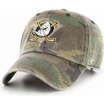 47 Brand Curved Brim Anaheim Ducks NHL Clean Up Camouflage Adjustable Cap