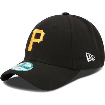 Gorra curva negra ajustable 9FORTY The League de Pittsburgh Pirates MLB de New Era